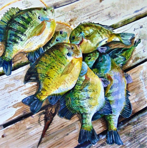 Stringer of Bluegill