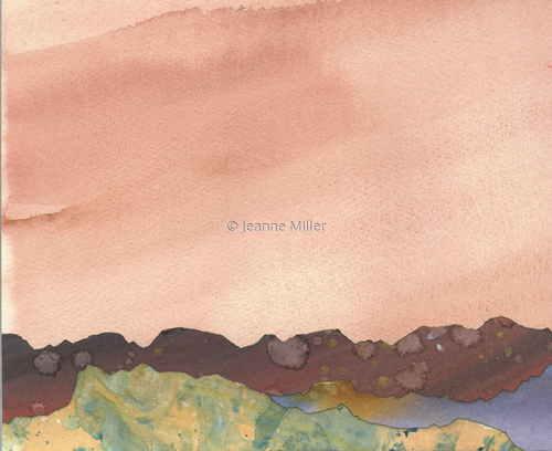 Landscape (Apricot Sky)