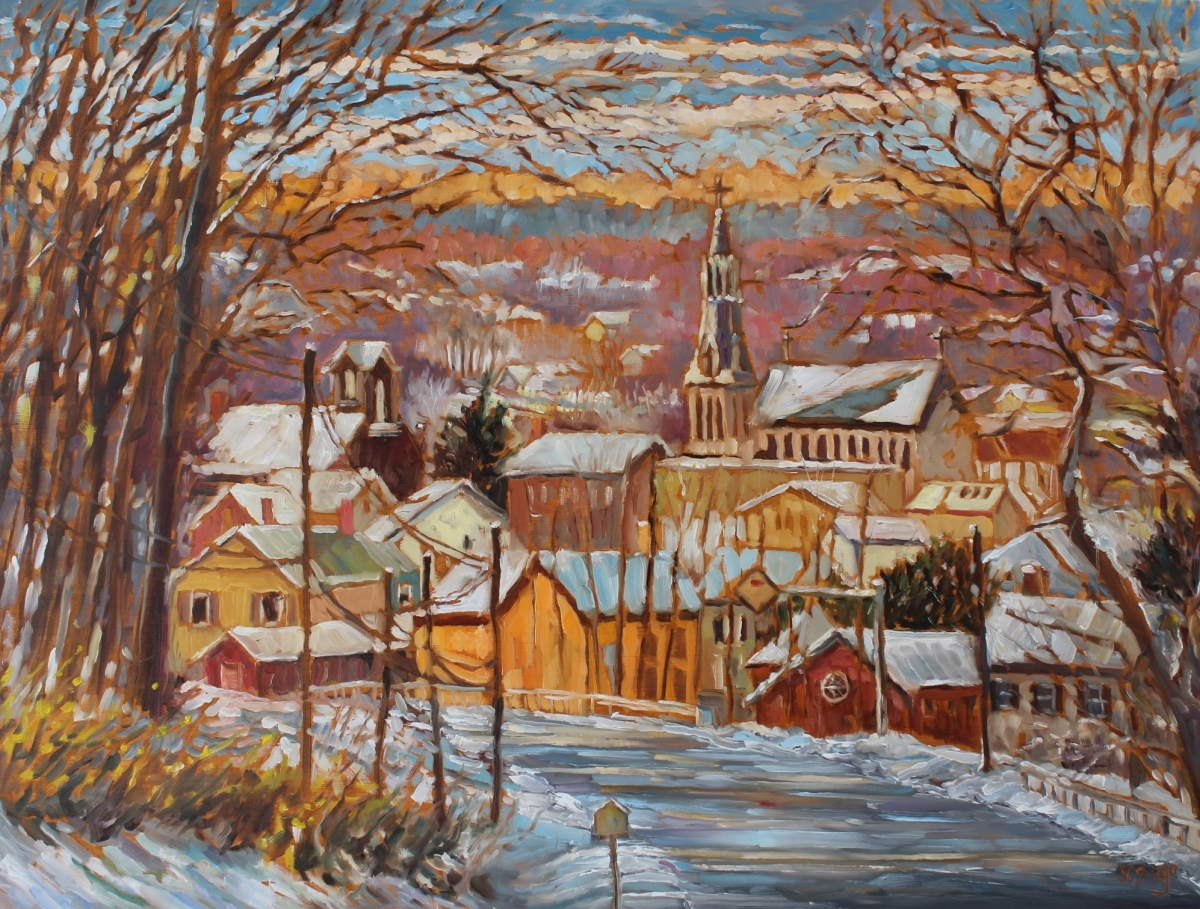 Lambertville Overlook II - Winter (large view)
