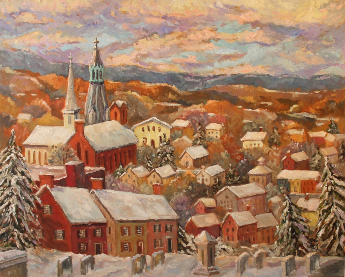 Lambertville Overlook III - Winter (large view)