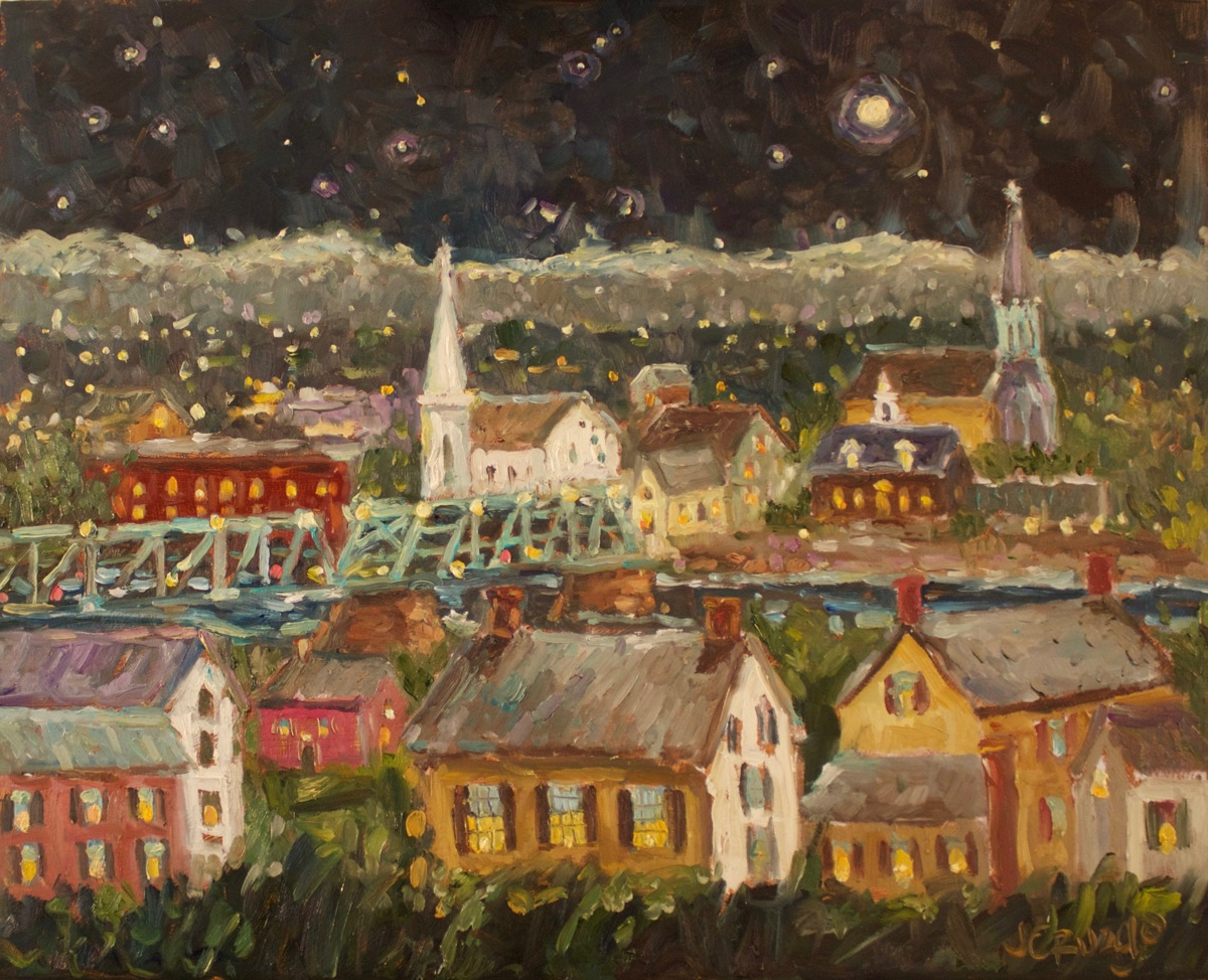 New Hope - Lambertville Night (large view)
