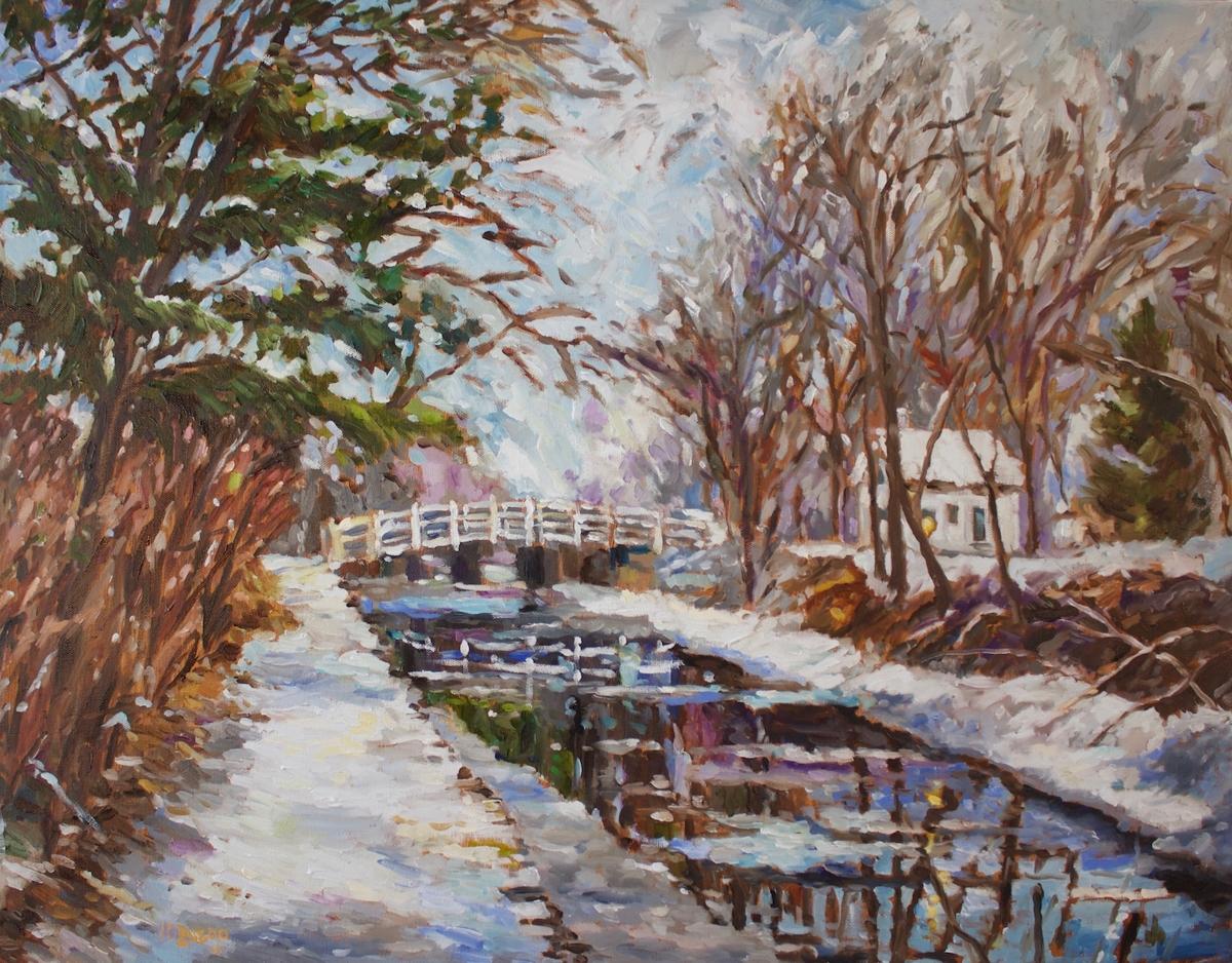 Coryell Bridge Snowfall (large view)