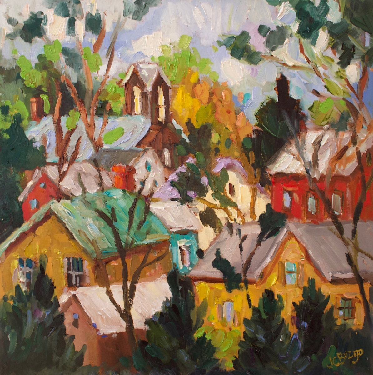 Lambertville Rooftops (large view)