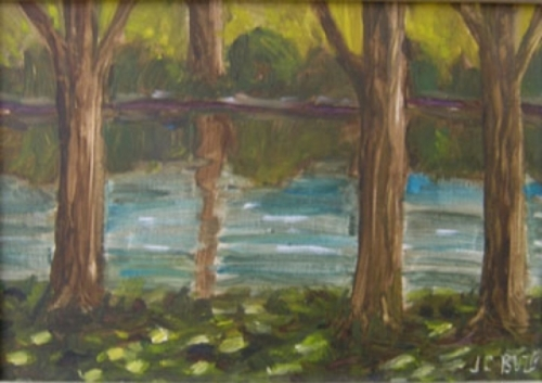 Delaware River Through the Trees