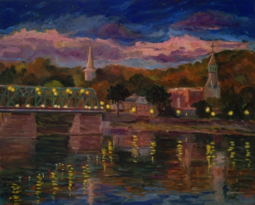 Lambertville Twilight (large view)