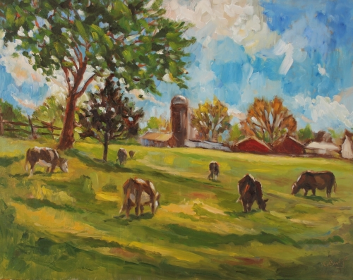 Grazing Cow Pastures