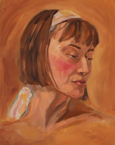 Jessica from a Live Figure Painting Session