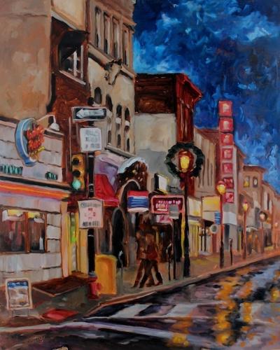 South Street, Philadelphia at Night