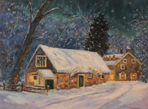 Phillips Mill Snowfall by Jean Childs Buzgo