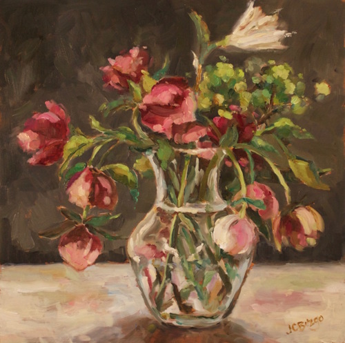 Hellebores II by Jean Childs Buzgo