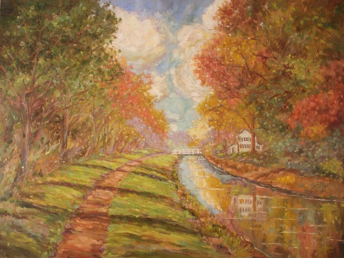 Canal in Springtime