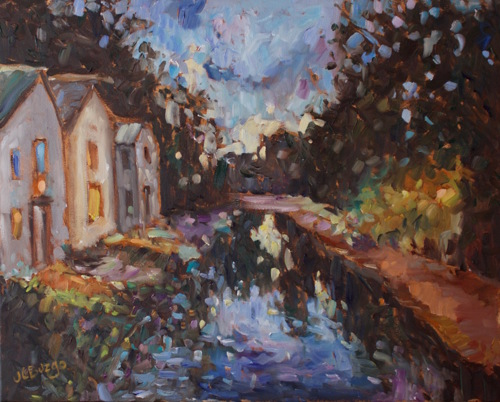 Nighttime on the Canal (New Hope)