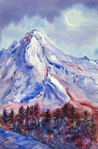 Mount Hood Moonlight
