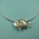 fish jewelry,fish necklace,silver nautical jewelry,ocean necklace,fish necklace,pmc,metal clay - Necklaces Jewelry