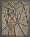 """""""The Messenger"""" clay quilt (thumbnail)"""