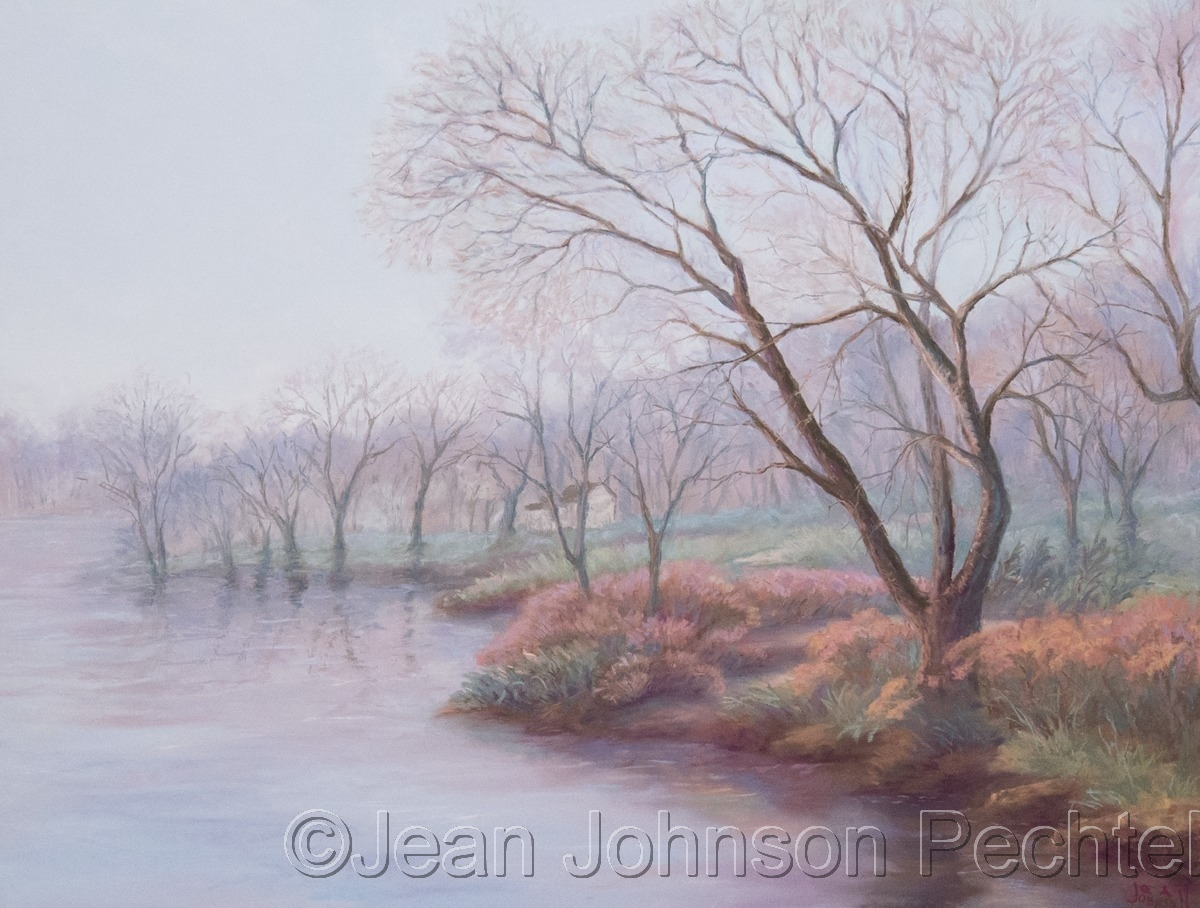 Fox River in Fog (large view)