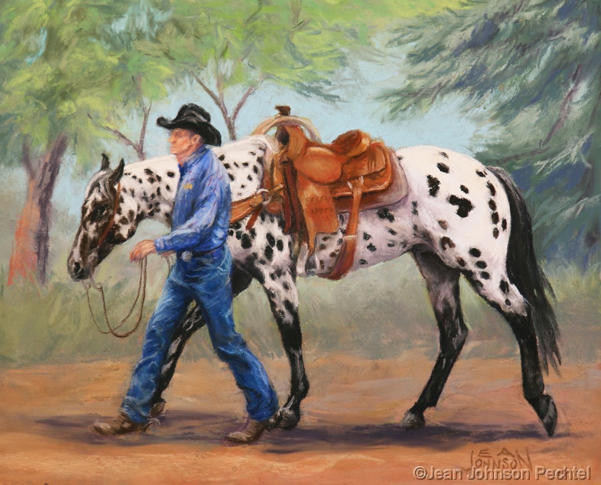 Painting Roger With Appaloosa Original Art By Jean Johnson Pechtel Artist