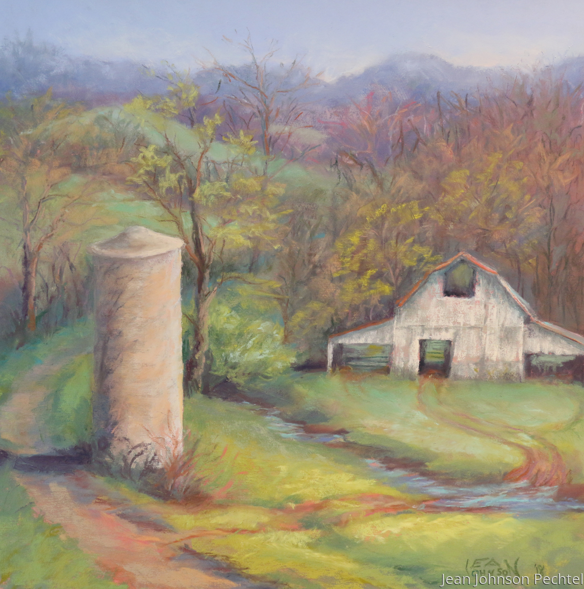 Silo and Barn in the Hills (large view)