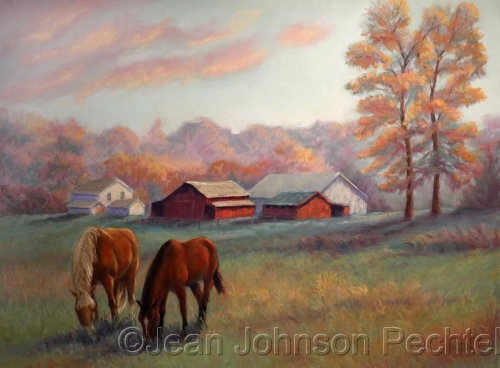 Amish Horses by Jean Johnson Pechtel, Artist