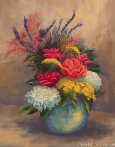 Hydrangea and Roses by Jean Johnson Pechtel, Artist