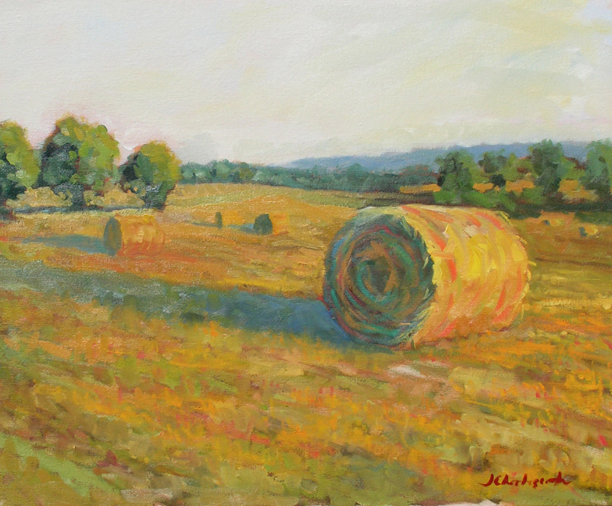 Early Morning Bales of Hay (large view)