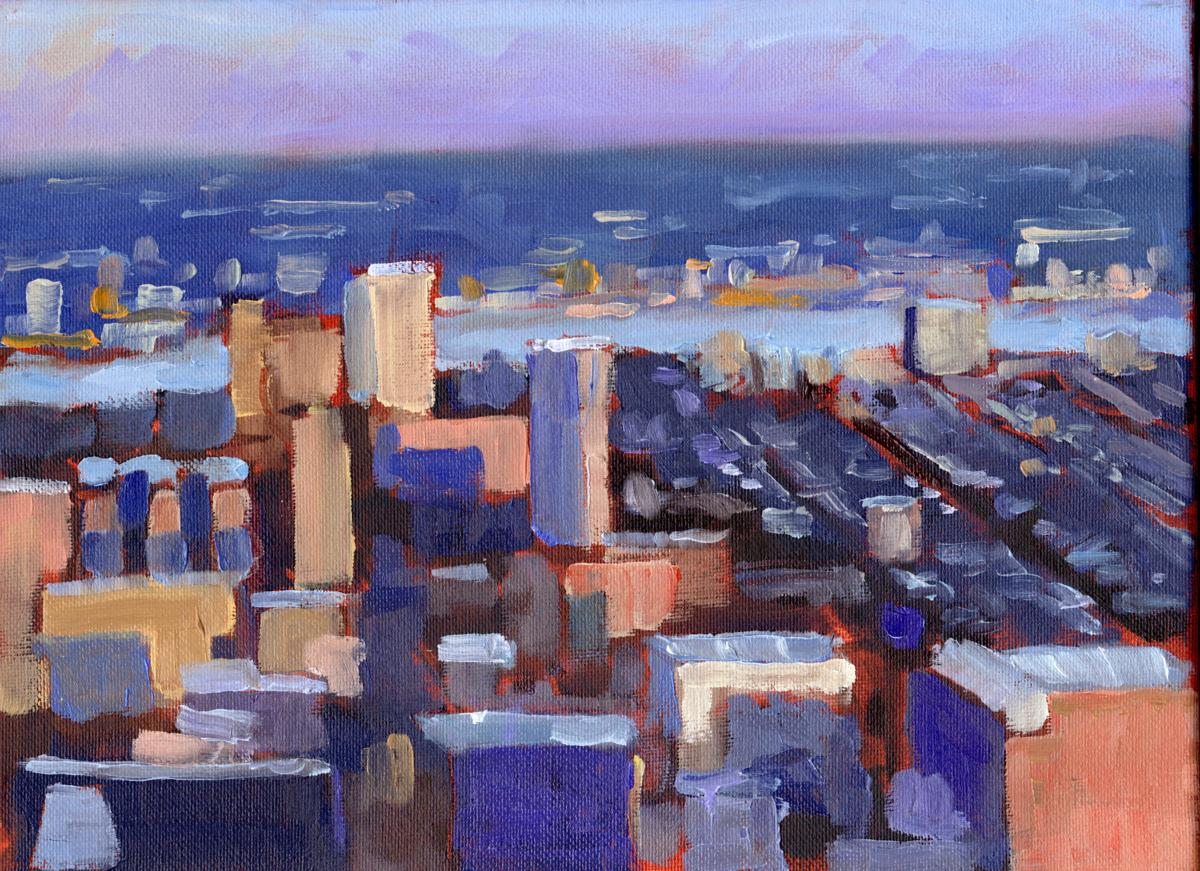 Philadelphia dusk view (large view)