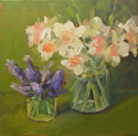 Pink Daffodils and Grape Hyacinths (thumbnail)
