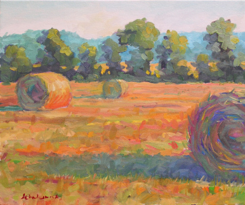 Three Bales of Hay by Jeffrey Charlesworth