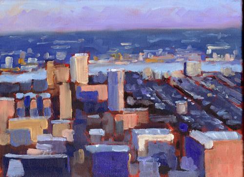 Philadelphia dusk view by Jeffrey Charlesworth