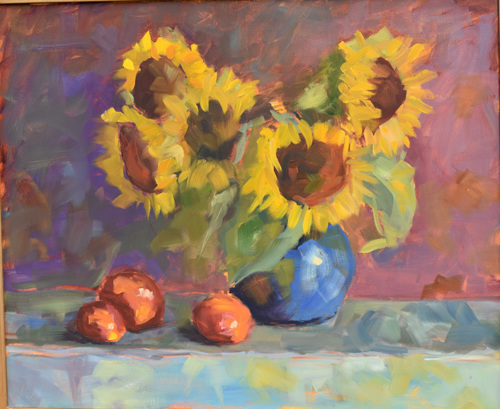 Sunflowers from the garden by Jeffrey Charlesworth