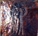 Art Nouveau Repousse Figure in Copper (thumbnail)