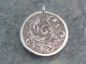 Sterling Silver Hand Engraved Scrollwork Pendant (thumbnail)