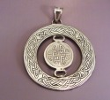 Engraved Sterling Silver Celtic Knotwork Pendant (thumbnail)