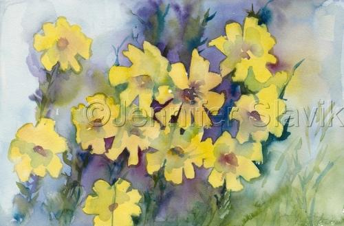 Yellow Daisy Meadow No. 2