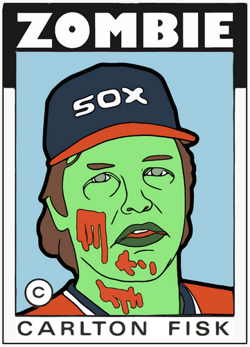 Digital Art-ZOMBIE CARLTON FISK