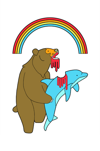 dolphin vs bear
