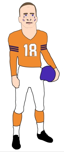 Digital Art-SAD PEYTON MANNING