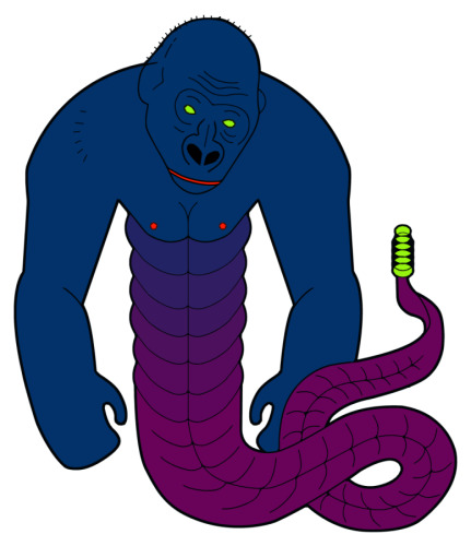 Digital Art-GORILLA SNAKE