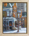 Miniature oil painting of Midtown in the city of Detroit. This is a historic home. (thumbnail)