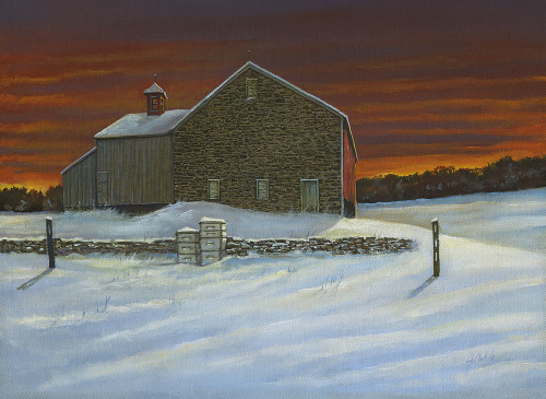 Sergantsville Sunset by Jerry Cable