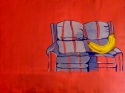 Banana couch Pink Yellow Blue couch (thumbnail)
