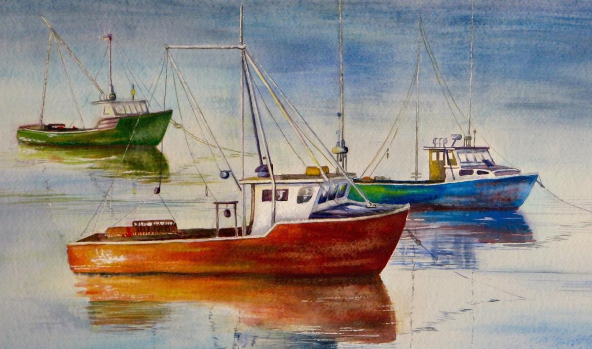 Fishing Boats at Dawn (large view)