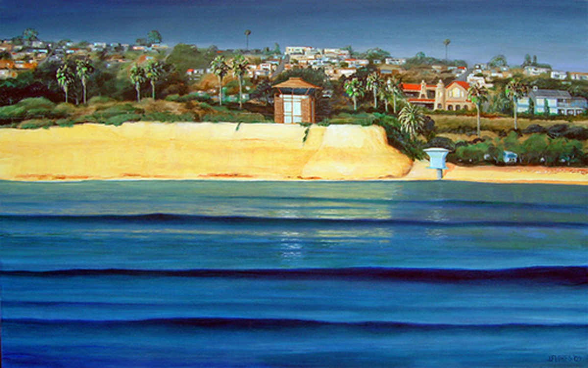 San Elijo State Park Bluff<br><font size=-1>2009</font><br><font size=-1>Acrylic on Canvas</font> (large view)