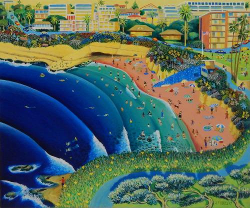 La Jolla Cove Swimmer by Juan Flores