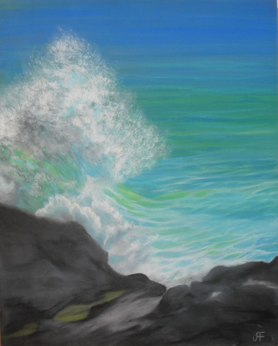 Wave Action by Judi Forney Art