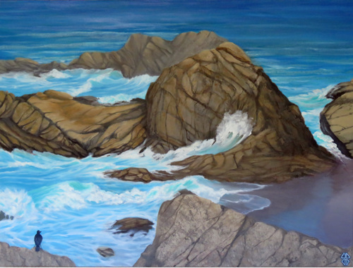 Serenity in the midst of chaos by Judi Forney Art