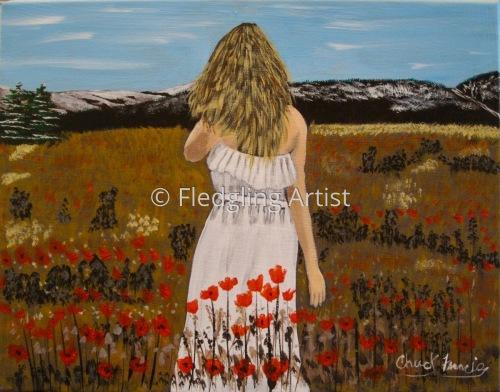 Lady In Meadow