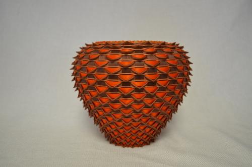 pointed vase basket by Jeremy frey