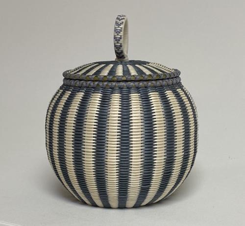 Striped fine weave basket
