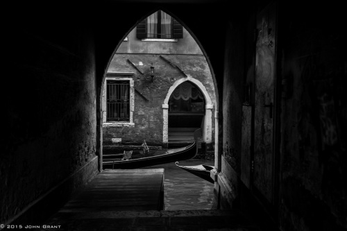 Venice Gondolas Passing